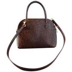 Hermes Genuine Ostrich Baby Bolide Handbag  Rare Unused