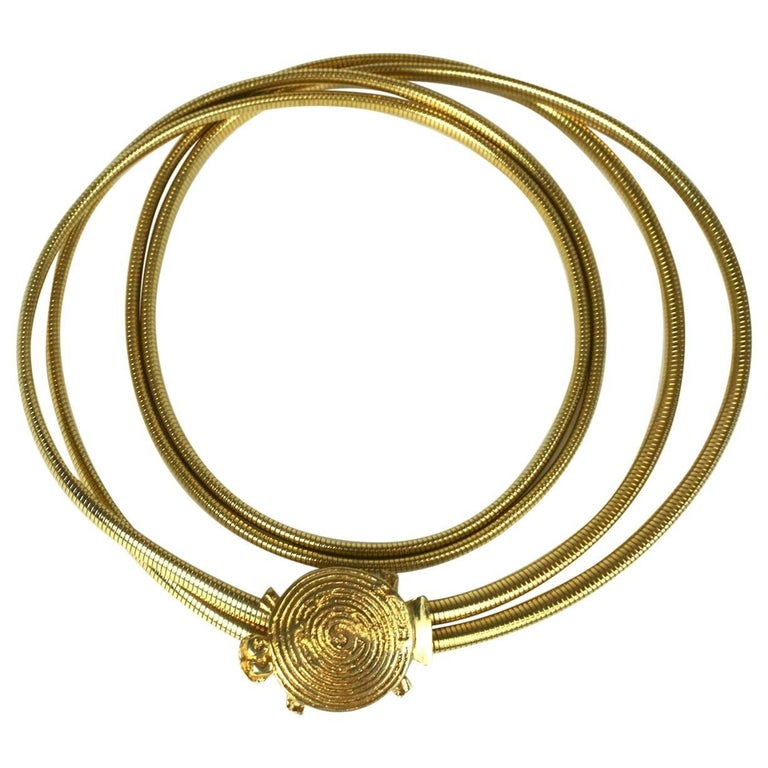 Pauline Trigere Gilt Turtle Belt/Necklace For Sale