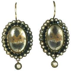 Wonderfully Unusual Victorian Memorial Earrings