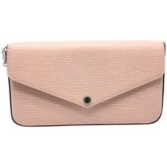 Louis Vuitton Pochette Felicie Pink Epi Crossbody Bag
