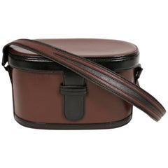 1980's AZZEDINE ALAIA leather train case style bag