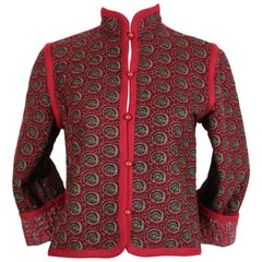 Yves Saint Laurent quilted floral peasant jacket, 1976