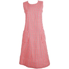 1997 COMME DES GARCONS red gingham padded dress 'BODY MEETS DRESS'