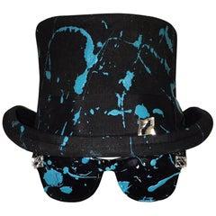 STACY ENGMAN ART ROYALTY - Classic Signature Sunglasses-Tiara - w Splat Top Hat