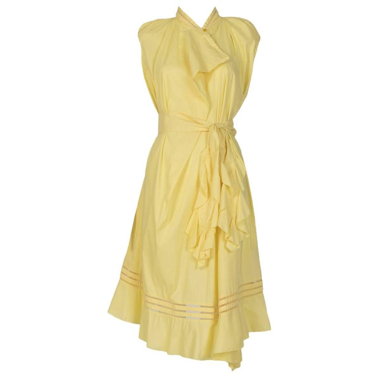 ZAC POSEN Yellow Sun Dress