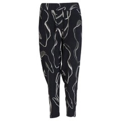 Nicole Bridger Abstract Print Elasticized-Waist Trousers