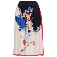 Albert Nipon Silk Printed Skirt / Albert Nipon Silk Printed Scarf