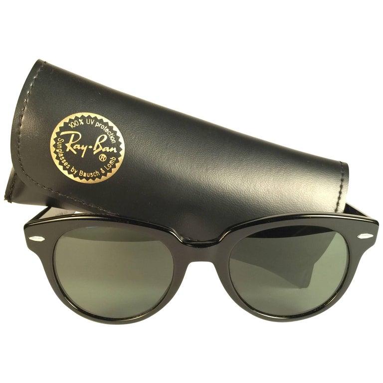 New Ray Ban Orion Black B&L G15 Grey Lenses USA 80's Sunglasses