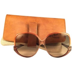 New Vintage Ray Ban Style 31 Naturals Amber 1970's  USA Sunglasses