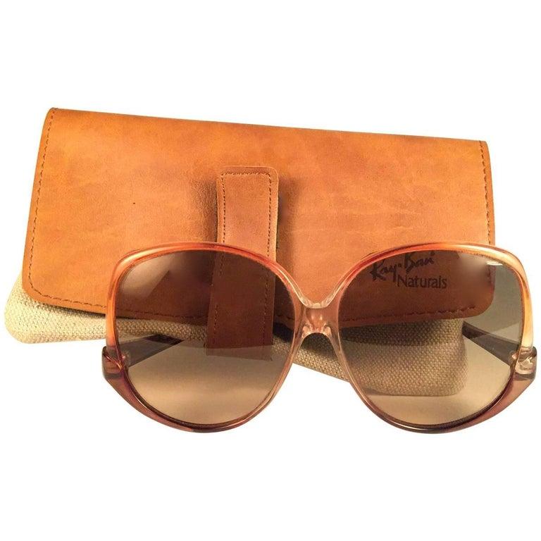 New Vintage Ray Ban Style 31 Naturals Amber 1970's  USA Sunglasses