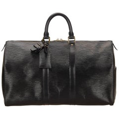 Louis Vuitton Black Epi Keepall 45 Duffle Bag