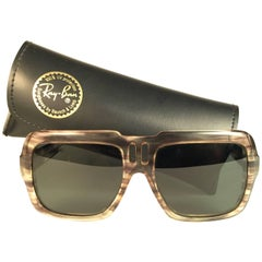 New Vintage Ray Ban B&L Magellan G15 Grey Lenses 1970's Sunglasses USA