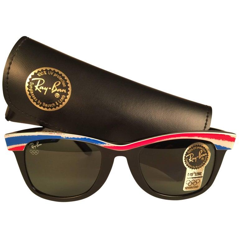 New Ray Ban The Wayfarer Olympics Albertville 1992 B&L USA 80's Sunglasses