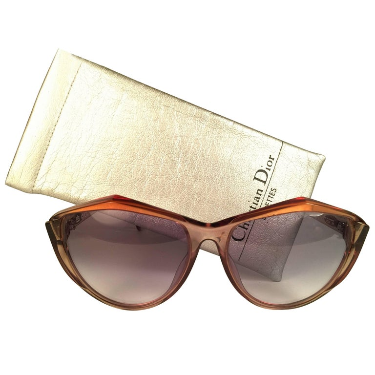 New Vintage Christian Dior 2234 Translucent Oversized Optyl Sunglasses For Sale