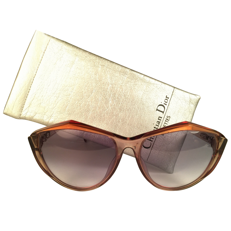 New Vintage Christian Dior 2234 Translucent Oversized Optyl Sunglasses