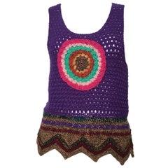 YSL 1970s Crochet Vest Size 4.