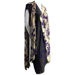 1980s Gianni Versace Silk Print Foulard Duster