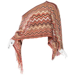 Missoni Iconic Zig-Zag Knit Shawl