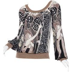 Jean Paul Gaultier Art Nouveau Slinky Sweater