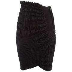 Comme des Garcons Autumn-Winter 1989 black jersey smocked skirt