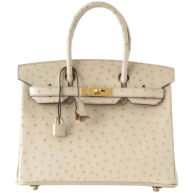 f425c768c8f9 Hermes Birkin 30 Bag Parchemin Gold Hardware Perfect Year Round Neutral For  Sale