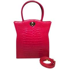 Designer Contessa Vintage Red Alligator Collectors Handbag