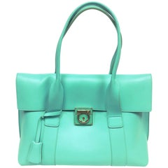 Salvatore Ferragamo Sookie Small Flap Satchel Bag Turquoise