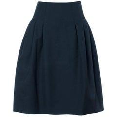 Valentino Women's Black Wool A Line Skirt