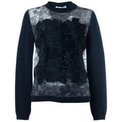 Valentino Women's Black Broadtail Embellished Wool Sweater