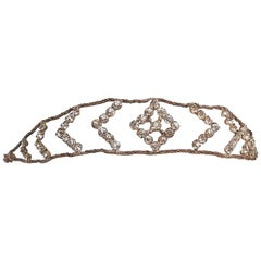 1920s Crystal and Brass Rhinestone Headband