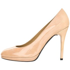 Stuart Weitzman Nude Patent Platswoon Pumps Sz 7 with DB