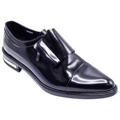 Givenchy Mens Richelieu Metal Heel Black Leather Oxfords