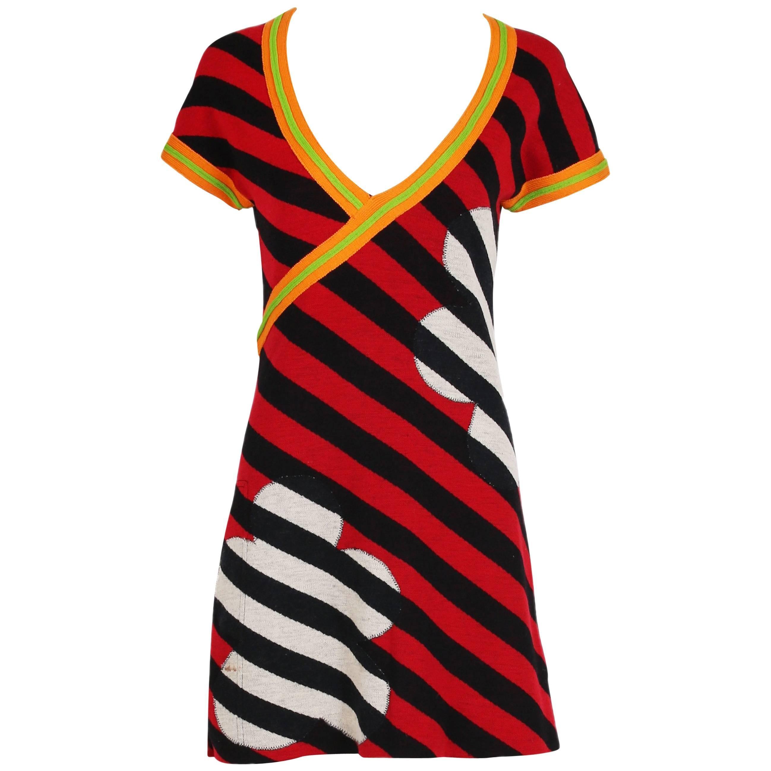 076ab8d1f62 Vintage Marimekko Pink and Orange Cotton Abstract Print Maxi Dress at  1stdibs