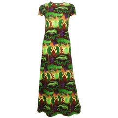 Jean Paul Gaultier Vintage Egyptian Print Maxi Dress