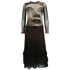 Jean Paul Gautier Vintage Op Art Woman Portrait Dress