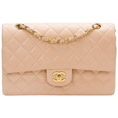 1990s Chanel Pink Quilted Lambskin Vintage Medium Classic Double Flap Bag