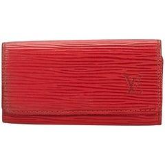 Louis Vuitton Red Epi 4 Key Holder