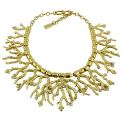 Yves Saint Laurent YSL Vintage Iconic Coral Necklace