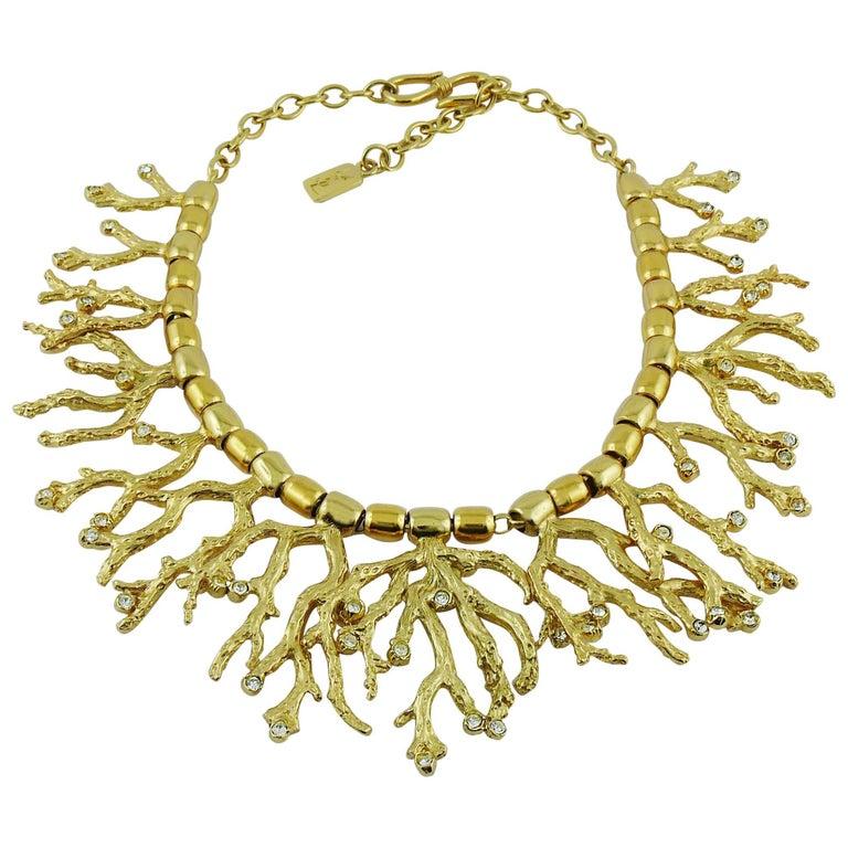 3d781247b95 Yves Saint Laurent YSL Vintage Goossens Iconic Coral Necklace For Sale
