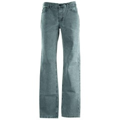 Givenchy Men's 100% Cotton Ash Gray Denim Jeans