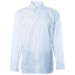 Givenchy Men's 100% Cotton Solid White Button Down