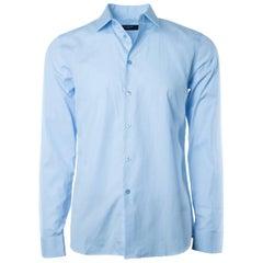 Givenchy Men's 100% Cotton Light Blue Button Down