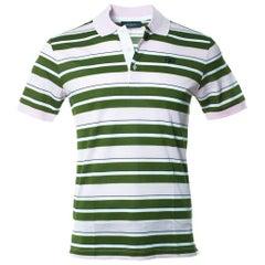 Givenchy Men's Pink Striped 100% Cotton Polo Shirt