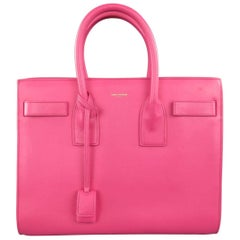 SAINT LAURENT Pink Leather Small Sac Du Jour Handbag