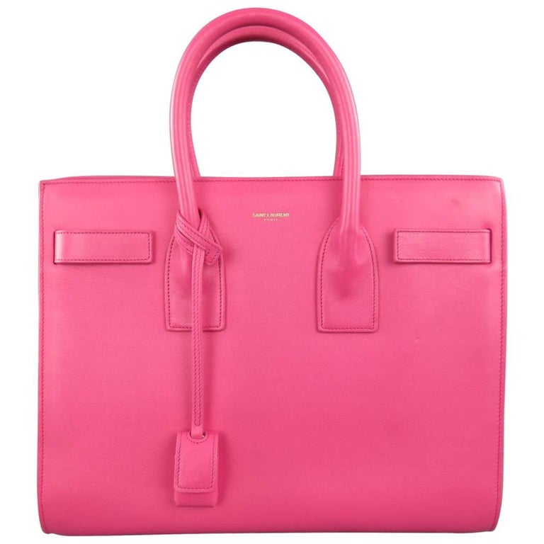 SAINT LAURENT Pink Leather Small Sac Du Jour Handbag 1