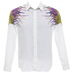 Riccardo Tisci Givenchy Men's White Cotton Printed Shirt, Spring 2012