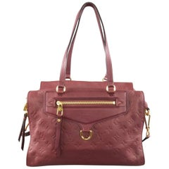 LOUIS VUITTON Burgundy Monogram Embossed Leather 'Lumineuse' Handbag