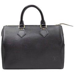 Louis Vuitton Speedy 25 Black Epi Leather City Hand Bag