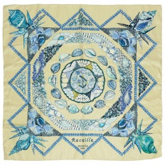 "Hermes Silk Carre Scarf ""Rocaille"" by Valerie Dawlat-Dumoulin"