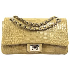 2000s Crocodile Leather Shoulder Bag